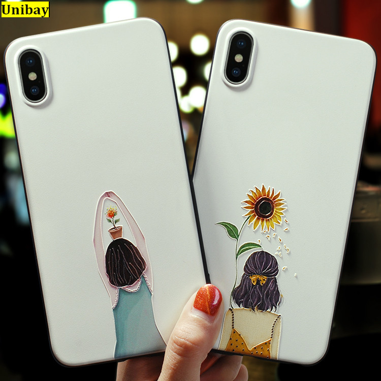 For iPhone XS Max Case Popular Girl Syle Slim Anti Knock