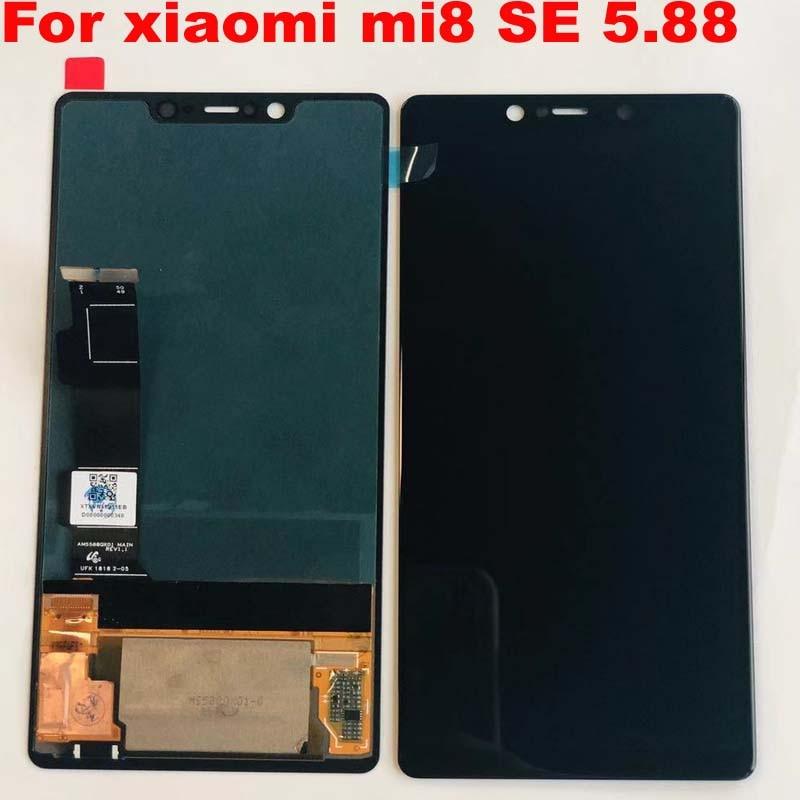 Super Amoled New Tested For Xiaomi Mi8 SE Mi 8 SE MI8SE LCD Display Touch Screen