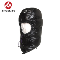 AEGISMAX Winter Outdoor Goose Down Hat Cap Beanie Ski Balaclava Face Cover Mask Camping Hiking Cycling