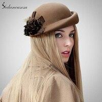 Sedancasesa Beret Hat Women Autumn Winter Korean Bowler Retro British Beret Hat For Warm Australian Wool