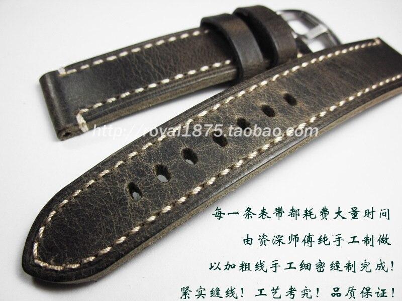 2018 nouveau design Haut de Gamme 18 19 20 21 22mm Main italie En Cuir VINTAGE Remplacement Montre-Bracelet de Courroie De Bande Ceinture pour Marque montre