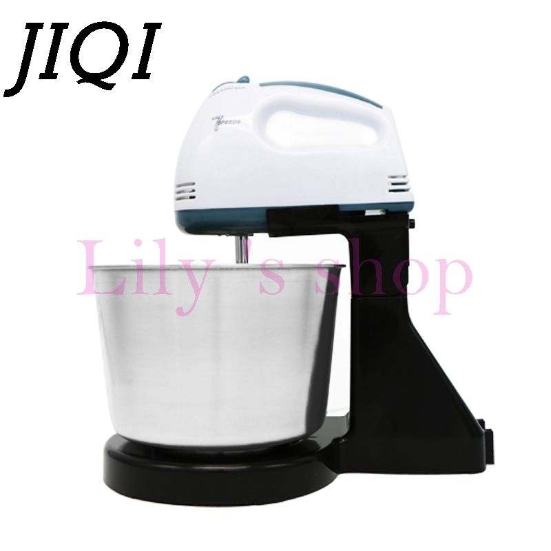 JIQI Table Electric Food Mixer mini desktop 7 Speeds Automatic Eggs Beater handheld butter Blender Baking Whipping cream MachineJIQI Table Electric Food Mixer mini desktop 7 Speeds Automatic Eggs Beater handheld butter Blender Baking Whipping cream Machine