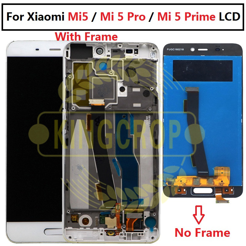 K PartsCrop Fix Mi5 Touch Screen With Frame LCD Display Touch Panel Replacement