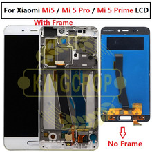Сенсорный ЖК экран с рамкой для Xiaomi Mi5, ЖК дисплей + сменная сенсорная панель для Xiaomi mi 5 Pro Prime
