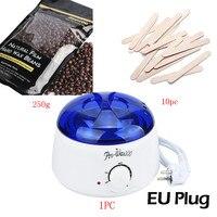 Hương vị sô cô la sáp Cứng Đậu 250 gam Lau Gậy MINI SPA tay Máy Cạo Lông Hot Sáp Ấm Heater Pot Làm Rụng Lông Wax Heater b