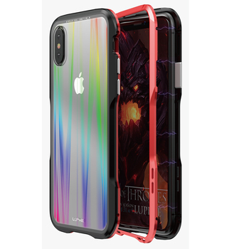 Luxury Magnetic Case For iPhone XS Max Case Coque Metal bumper cover For Apple iPhone XR Case Transparent Aurora Tempered Glass iPhone XR
