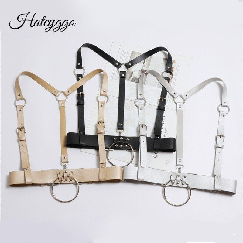 HATCYGGO Sex Women Punk Harajuku Wide Body Garters Toroidal Bondage Cage Sculpting Harness Waist Belt Straps Suspenders Belts