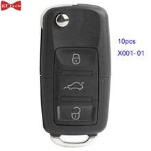 10 pçs X001-01 xhorse fio universal remoto chave b5 tipo 3 botão para vvdi2 e vvdi ferramenta chave