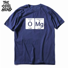 COOLMIND 100% cotton funny men T shirt casual short sleeve summer Tshirt cool loose t-shirt mens tee shirts