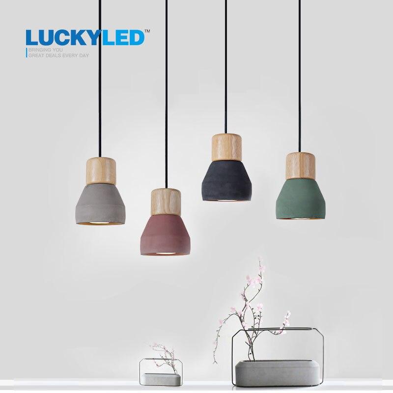 Американский кантри Стиль цемента подвесной светильник 120 см провод E27/E26 гнездо Droplight 4 вида цветов дерево внутренней отделки подвесной свет...
