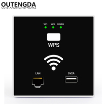 300Mbps In Wall WIFI Access Point Wireless Socket AP for hotel WiFi Project Support Access Controller System Support RJ45 USB