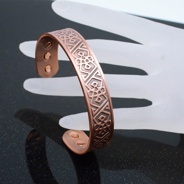 Pure Copper Powerful Bio Fashion Magnetic Antique Bangle