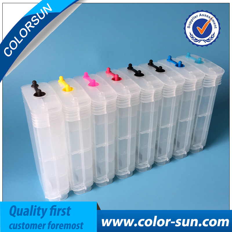 12 colors For HP70 HP 70 Refillable Ink Cartridge For Hp Deskjet Z3100 Printer Cartridge with permanent ARC chips free shipping for hp 932 933 refillable ink cartridge with ink with permanent chips for hp officejet 6600 6700 ink jet printer
