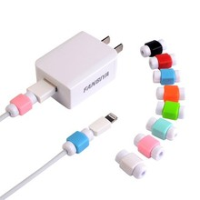 Wholesale 100 Pieces USB Cable Protector For IPhone Charging Line Protective D2 Colorful Mobile Phone Cord Saver Cover Winder
