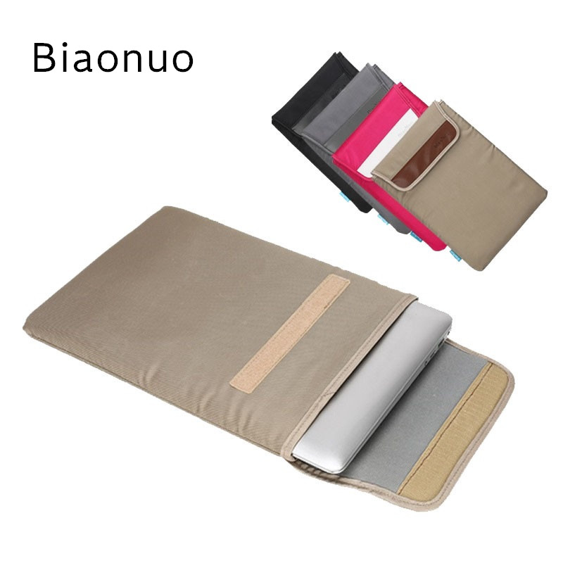 2017 New Brand Biaonuo Bag For Laptop 13,14,15,15.6 inch,Sleeve Case For Macbook Notebook Air Pro 12,13.3,Free Drop Shipping hot pu leather sleeve case for macbook air 11 air 13 retina 13 3 inch pro 15 4 envelope bag wholesales free drop shipping