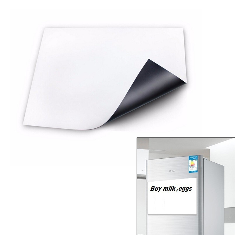 Home Flexible Size A3 Magnetic Whiteboard Fridge Kitchen Home Office Reminder Magnet Dry-erase Board White Boards LS