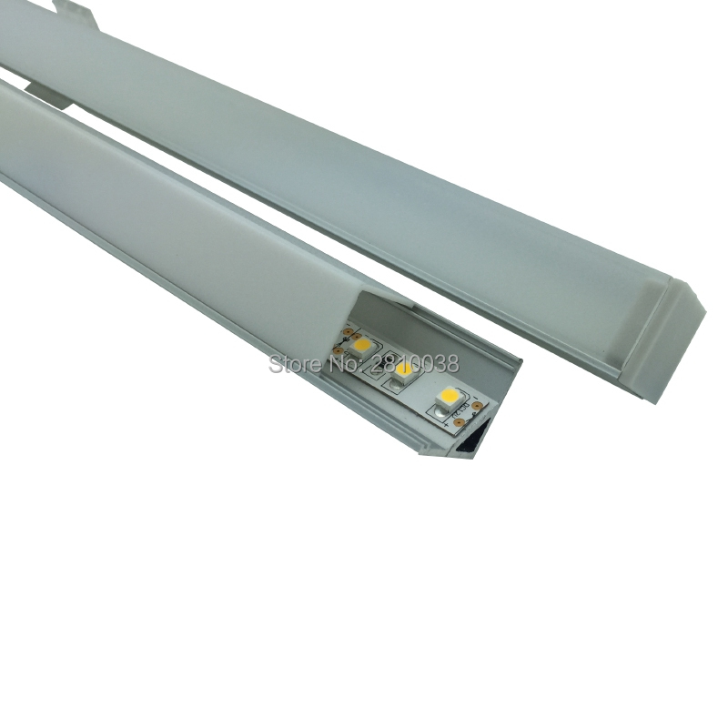 10 X0.5m Sets/lot Right Angled Led Leiste Profil And Anodized Silver Profilleisten Aluminium For Kitchen Or Cabinet Lights Pure And Mild Flavor Led Bar Lights