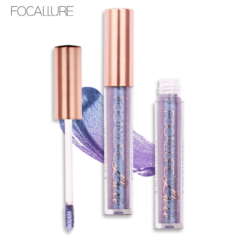 Professional Lip Makeup Glitter Lip Gloss Focallure Brand Liquid Lipstick Long Lasting Waterproof Metallic Lipgloss Tint Makeup 5