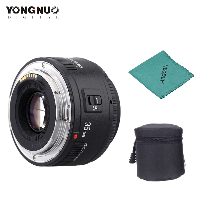 Yongnuo YN35mm F2.0 عدسة واسعة زاوية ثابتة/رئيس السيارات التركيز عدسات لكاميرات كانون 600d 60d 5DII 5D 500D 400D 650D 600D 450D كاميرا عدسة