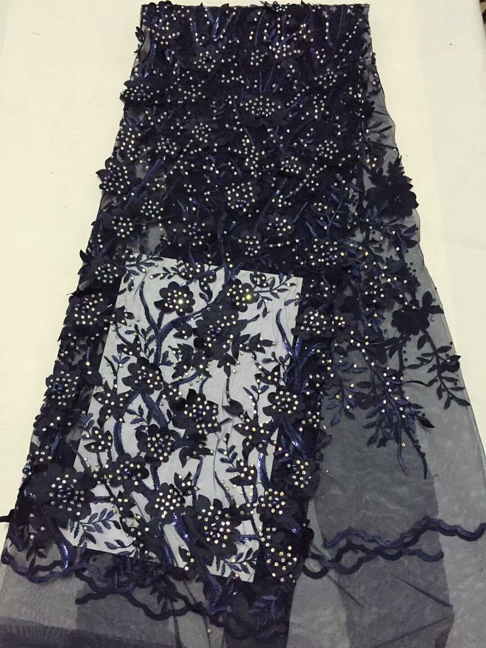 Appliqued flowers branches design with sequins beads stones Net Lace CD18,Good Price And Free Shipping African Tulle Lace Fabric
