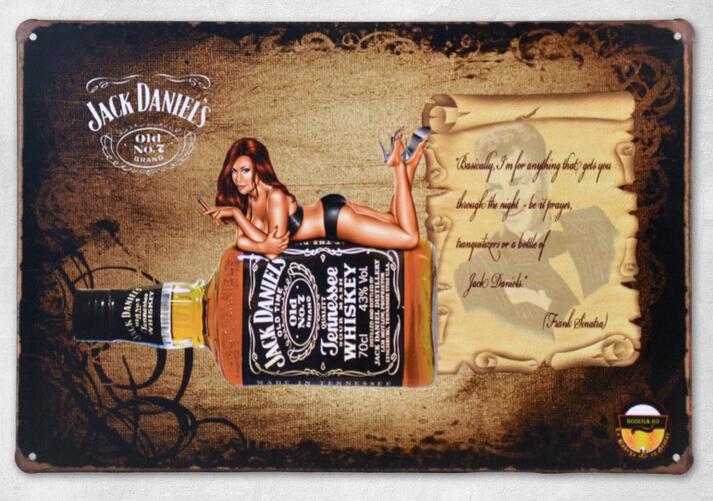 Hot Sale Jack Daniel 39 S Whiskey With Girls Pattern Tin