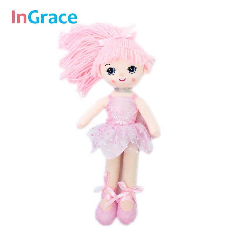 Ingrace clássico ballet boneca para meninas melhor presente de pelúcia dança menina bailarina brinquedos lifelike 3 cores crianças meninas brinquedo favorito