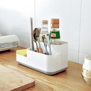 Image 2 - 1 Pcs Creative Makeup Organizer Plastic Detachable Grid Finishing Storage Box Cosmetics Desktop Rack Organizador 2019 Hot