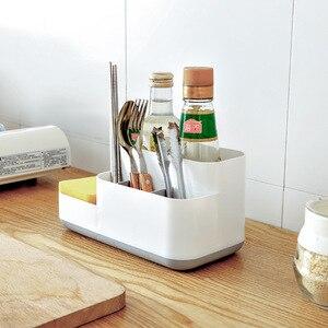Image 2 - 1 pçs criativo organizador de maquiagem plástico destacável grade acabamento caixa armazenamento cosméticos desktop rack organizador 2019 quente