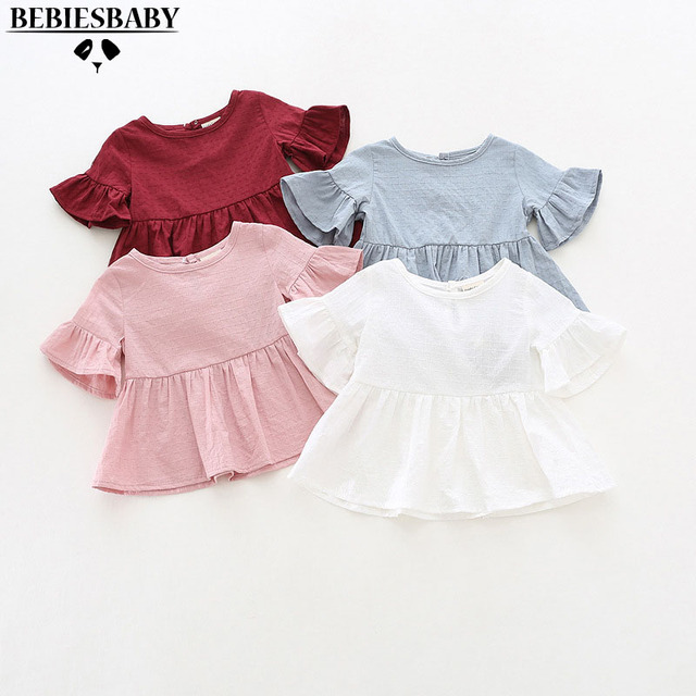 Blank Baby Shirts Girls Kids White Shirts Lolita Style Brand designer Baby  Blue Shirts Doll collar Cute Gilrs Clothes 6M-3 Years 320983a67c45