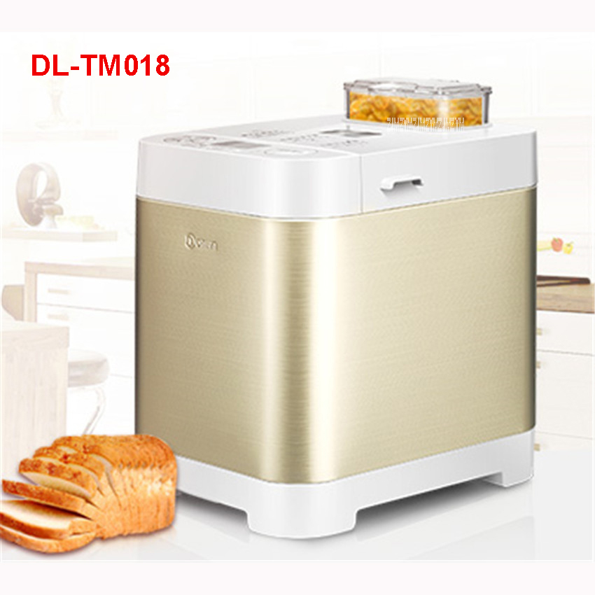 DL-TM018 220Vbread machine home automatic and face multi-functional intelligent Caesar fruit yogurt 500g/750g/1000g Bread Makers salter air fryer home high capacity multifunction no smoke chicken wings fries machine intelligent electric fryer