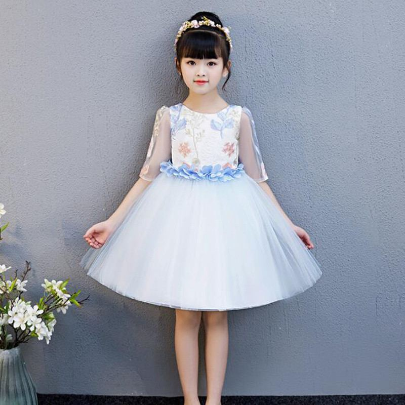 New Teenage Girls Mesh Embroidery Bow Tutu Princess Dress Kids Dresses For Girls Birthday Party Baby Girl Clothes Vestidos F125New Teenage Girls Mesh Embroidery Bow Tutu Princess Dress Kids Dresses For Girls Birthday Party Baby Girl Clothes Vestidos F125