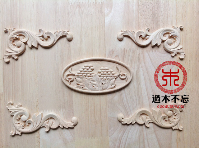 Wood dongyang wood carving wood fashion applique corner flower grape