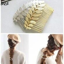 CR035 2016 Vintage Western Simple Style 14K Gold/Silver Plated Antheia Leaf Crown Wedding Hair Accessories Bride HairwearJewelry