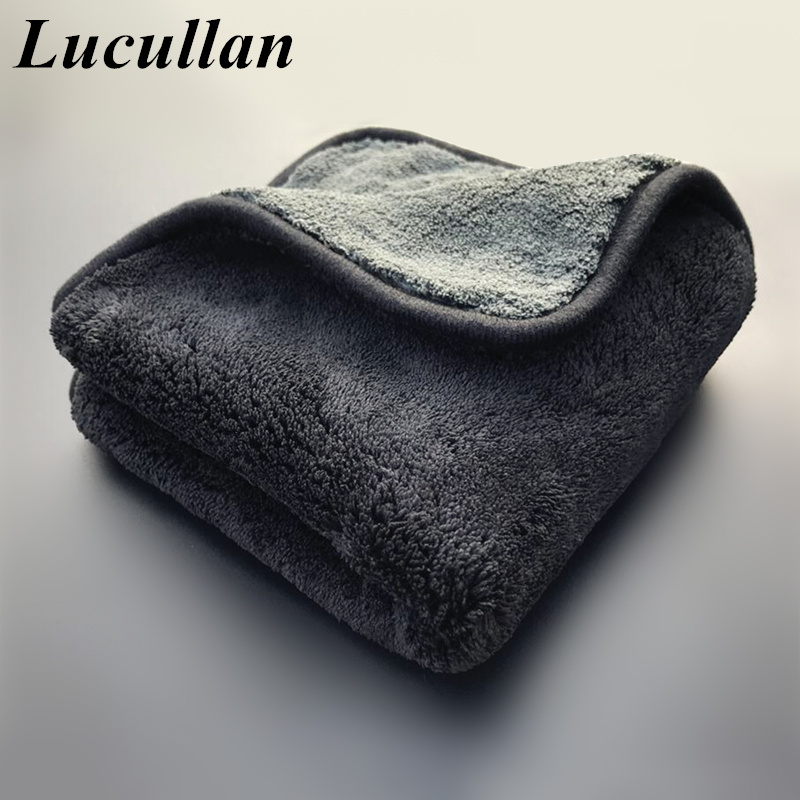 Lucullan 1400GSM Ultra Absorbancy Luxury Car Wash Cloth Pad Super Soft Premium Microfiber Drying Waxing Polishing Towel