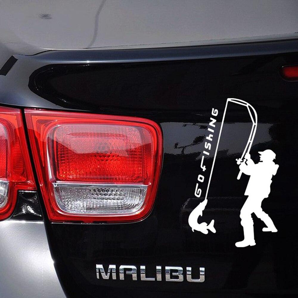 US $2 03 OFF Styling mobil reflektif Pergi Fishing Olahraga Mobil Sticker dan Decal untuk Vw Golf Polo Skoda Ford Focus Toyota Peugeot Renault di