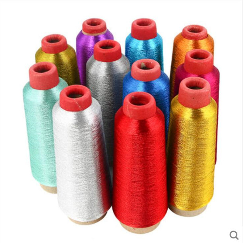 Colorful Computer Cross-Stitch Embroidery Threads 3200M Sewing Thread Line Durable Overlock Textile Metallic Yarn Woven Line