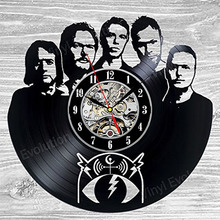 Pearl Jam Vinyl Record Clock Wall Decoration Modern Vintage Art Room LED with 7colors