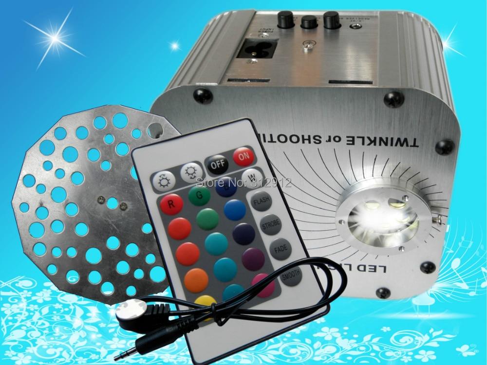 27 Вт светодиодный RGB волоконно оптический осветитель, с 24key ИК пультом и регулятор мерцания; AC100 240V вход; (с регулятор мерцания)