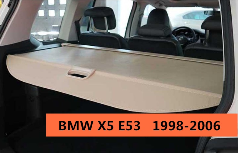 Car Rear Trunk Security Shield Cargo Cover For BMW X5 E53 1998.1999.2000.2001.02.03.2004.2005.2006 High Qualit Auto Accessories car rear trunk security shield cargo cover for dodge journey 5 seat 7 seat 2013 2014 2015 2016 2017 high qualit auto accessories