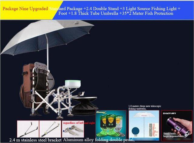 Super Stable Aluminum Alloy Fishing Chair Folding Camp/Fishing Chairs with Backpack Adjustable Backrest Legs Rod & Bait Holder