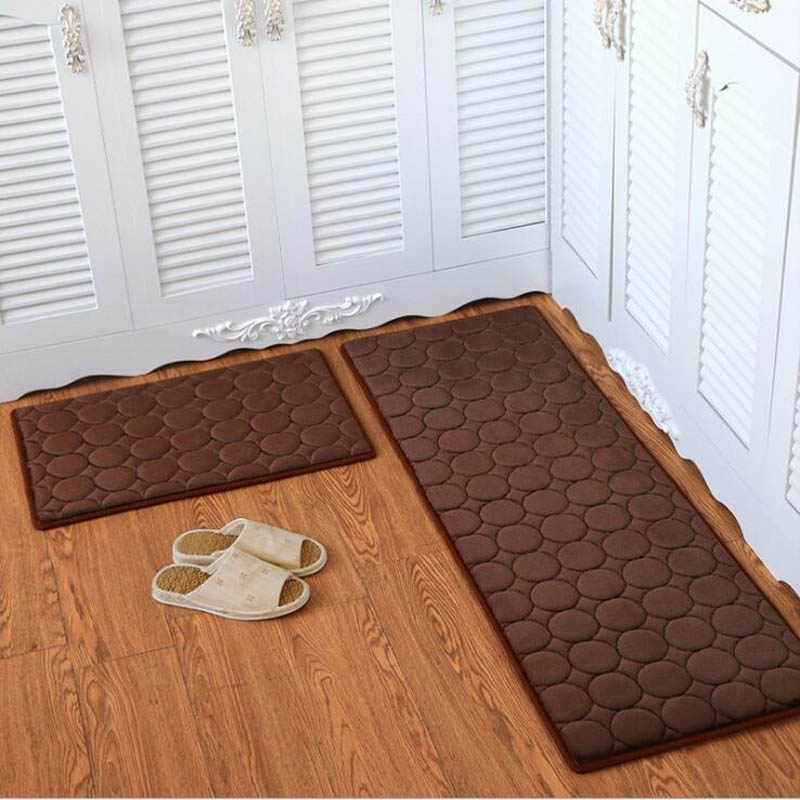 2018 Противоскользящий набор кухонных ковриков в полоску, стирающийся коврик для ванной, входной коврик, стол, диван, прикроватные коврики, коврик для занятий йогой