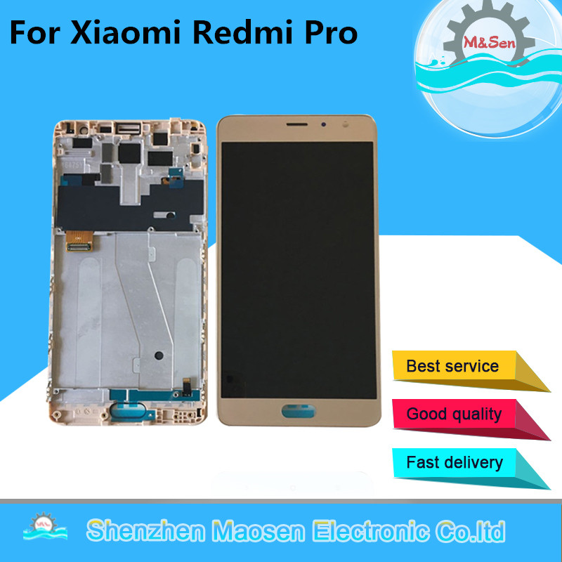 100 Geniune LCD Screen Display Touch Digitizer With Frame Light Flex Cable For 5 5 Xiaomi