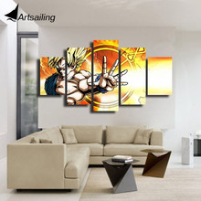 HD Printed dragon ball z Painting Canvas Print room decor print poster picture canvas Free shipping/ny-5077 printed abstract graphics psychedelic nebula space painting canvas print decor print poster picture canvas free shipping ny 5746