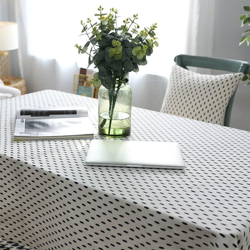Mantelería de lino Mantelería de estilo nórdico norte estampado - Textiles para el hogar - foto 2