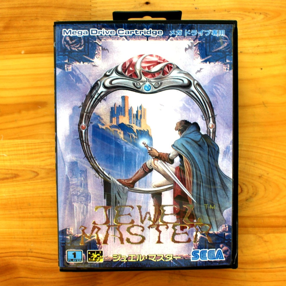 Jewel Master 16 Bit MD Game Card with Retail Box for Sega MegaDrive & Genesis Video Game console system