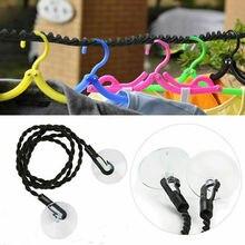 Портативная дорожная бельевая веревка для кемпинга, сушильные инструменты, нескользящая линия для одежды, ветрозащитная Нескользящая присоска, эластичная веревка, вешалка для стирки
