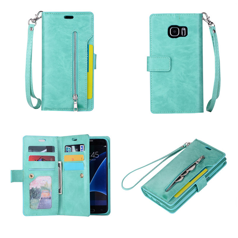 new product defc0 1460e US $7.9 |Fashion Mobile Cell Phone Wallet Case Purse 9 Credit Card Slot  Rope Bag Cover Cases For Android Samsung Galaxy S8 Plus S7 Edge-in Wallet  ...