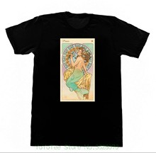 Print T-shirts Men Pisces Astrology Shirt A1 Tshirt Occult Witchcraft Fortune Telling Witch Satan