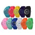 Free shipping 2017 Fashion Ice cream color Ultra-thin fashion gift silicone watch Geneva silicone Wristwatch W212