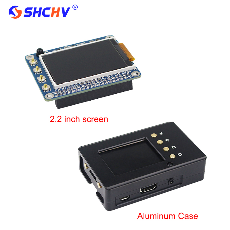 Raspberry Pi 3 2.2 inch TFT Screen LCD Display + Black Aluminum Enclosure Case Box also for Raspberry Pi 2 Model B Free Shipping 3 5 inch touch screen tft lcd 320 480 designed for raspberry pi rpi 2
